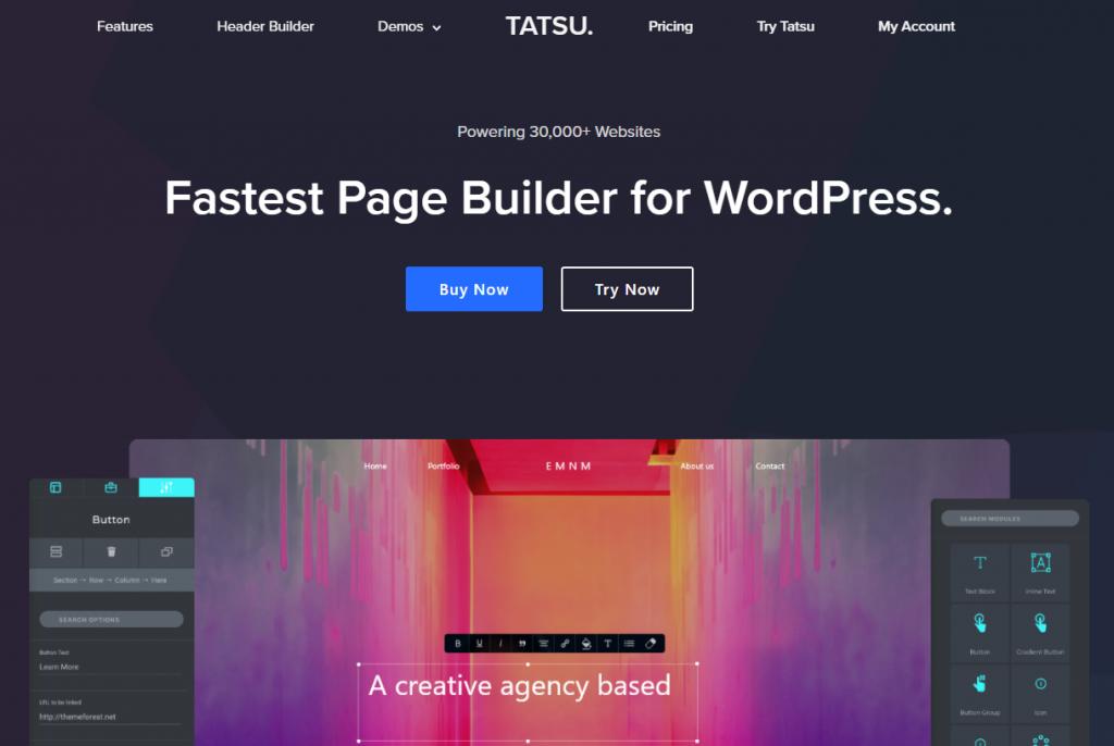 7 Essential WordPress Plugins From 2020 That Echo Into 2021 - Tatsu Builder Plugin