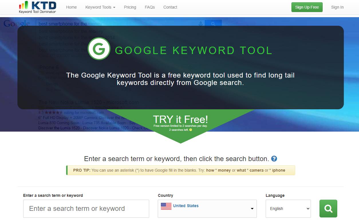 Free Tools for Keyword Research - Keyword Tool Dominator